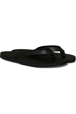The Resort Co Miehet Varvassandaalit - Saffiano Leather Flip-Flop Black/Black