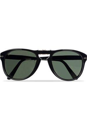 Persol Miehet Aurinkolasit - PO0714 Folding Sunglasses Black/Crystal Green