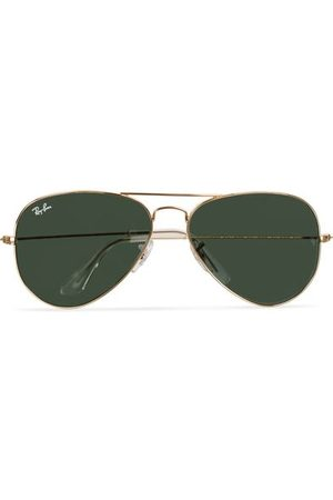 Ray-Ban Miehet Aurinkolasit - Aviator Large Metal Sunglasses Arista/Grey Green