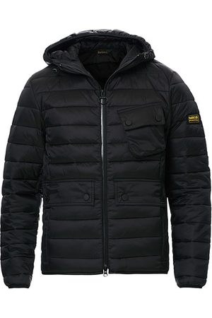 Barbour Miehet Untuvatakit - Ouston Hooded Quilt Jacket Black