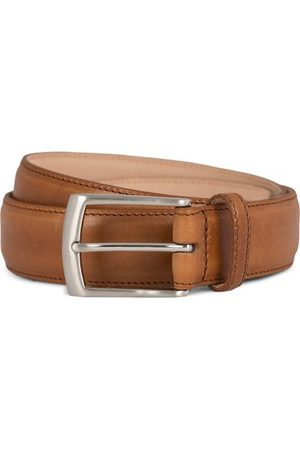 Loake Miehet Vyöt - Henry Leather Belt 3,3 cm Tan