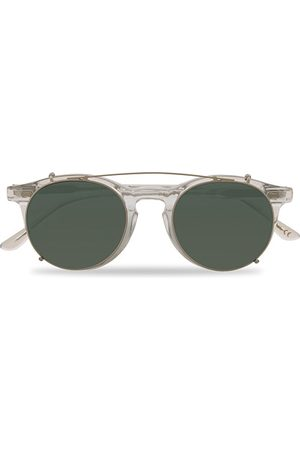 TBD Eyewear Pleat Clip On Sunglasses Transparent