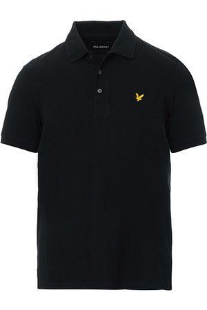 Lyle & Scott Miehet Pikee - Plain Pique Polo Shirt Jet Black