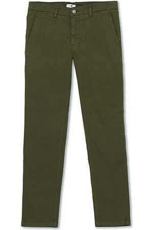 NN.07 Miehet Chinot - Marco Slim Fit Stretch Chinos Army Green