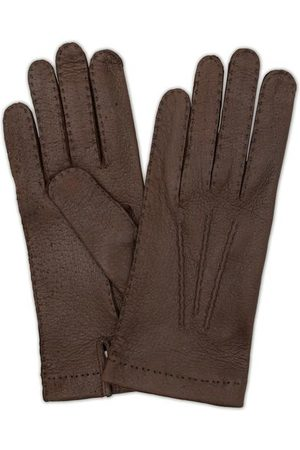 Hestra Miehet Käsineet - Peccary Handsewn Unlined Glove Espresso Brown