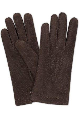 Hestra Miehet Käsineet - Carpincho Handsewn Cashmere Glove Espresso Brown