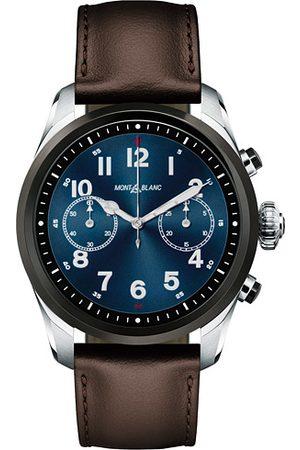 Mont Blanc Miehet Kellot - Summit2 42mm Smartwatch Steel Bicolor / Brown Calf