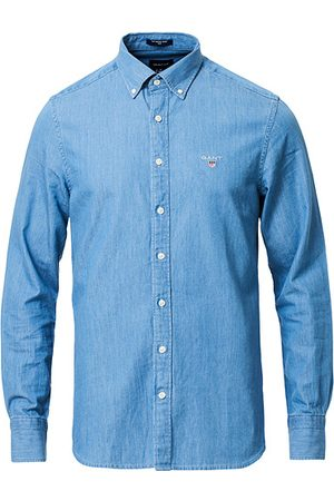 GANT Miehet Kauluspaidat - Slim Fit Indigo Shirt Semi Light Blue