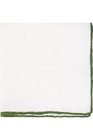 Amanda Christensen Miehet Taskuliinat - Linen Paspoal Pocket Square White/Green