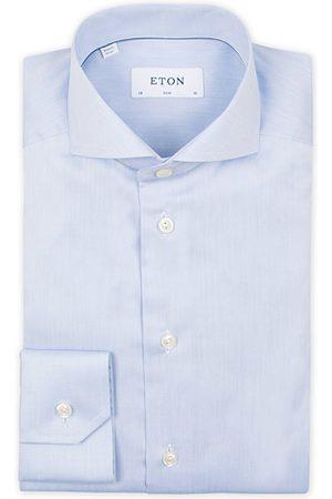 Eton Miehet Bisnes - Slim Fit Twill Cut Away Shirt Light Blue