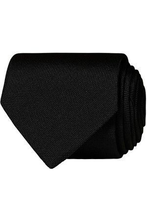 Eton Miehet Solmiot - Silk Basket Weave Tie Faded Black