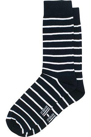 Armor.lux Loer Stripe Sock Rich Navy/White
