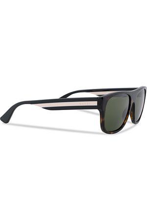 Gucci Miehet Aurinkolasit - GG0341S Sunglasses Havana/Green
