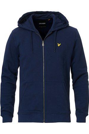 Lyle & Scott Miehet Collegepaidat - Zip Through Hodded Sweatshirt Navy