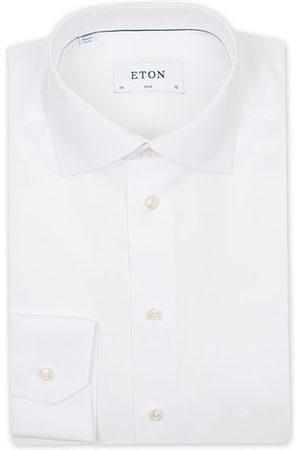 Eton Miehet Kauluspaidat - Slim Fit Poplin Shirt White