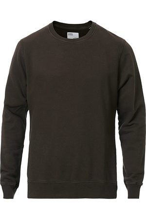 Colorful Standard Miehet Collegepaidat - Classic Organic Crew Neck Sweat Coffe Brown