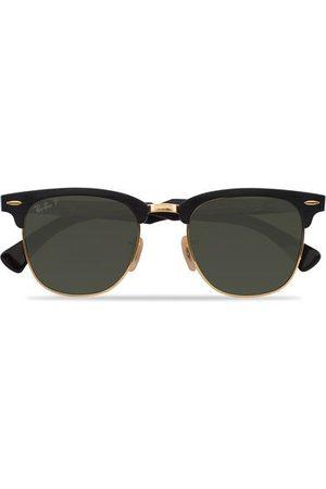 Ray-Ban Miehet Aurinkolasit - 0RB3507 Clubmaster Sunglasses Black Arista/Polar Green