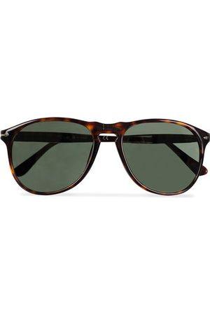 Persol Miehet Aurinkolasit - PO9649S Sunglasses Havana/Crystal Green