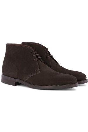 Loake Miehet Nilkkurit - Pimlico Chukka Boot Dark Brown Suede