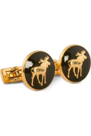Skultuna Miehet Kalvosinnapit - Cuff Links Hunter The Moose Gold/Green
