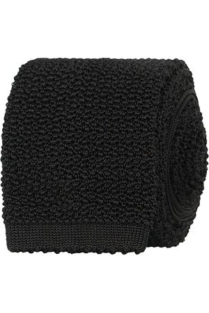 Drake's Knitted Silk 6.5 cm Tie Black