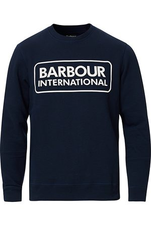 Barbour Miehet Collegepaidat - Large Logo Sweatshirt Navy