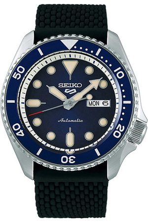 Seiko 5 Sports Mens 43mm 100m Automatic Rubber/Blue Dial