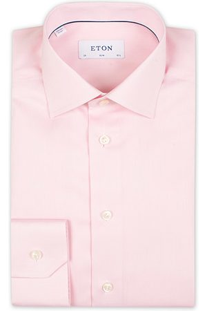 Eton Miehet Bisnes - Slim Fit Signature Twill Shirt Pink