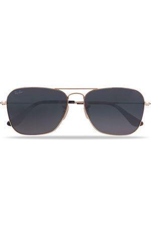 Ray-Ban Miehet Aurinkolasit - 0RB3136 Caravan Sunglasses Gold/Grey
