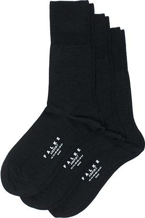 Falke 3-Pack Airport Socks Black