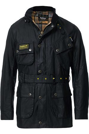 Barbour Miehet Päällystakit - Slim Wax Jacket Black