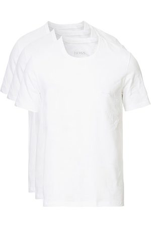 HUGO BOSS Miehet T-paidat - 3-Pack Crew Neck T-Shirt White