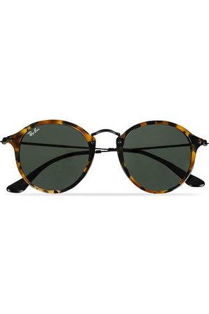 Ray-Ban Miehet Aurinkolasit - RB2447 Acetat Round Sunglasses Spotted Black Havana/Green