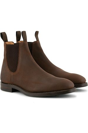 Loake Chatsworth Chelsea Boot Brown Waxed Suede