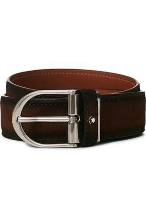 Mont Blanc Miehet Vyöt - Horseshoe Buckle Belt 35mm Light Brown Suede