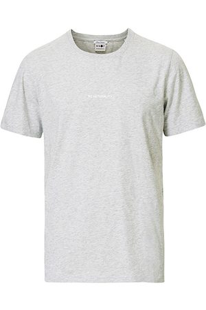 NN.07 Miehet T-paidat - Ethan Printed Crew Neck Tee Light Grey Melange