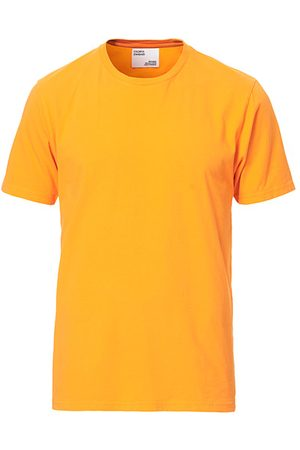 Colorful Standard Miehet T-paidat - Classic Organic T-Shirt Sunny Orange