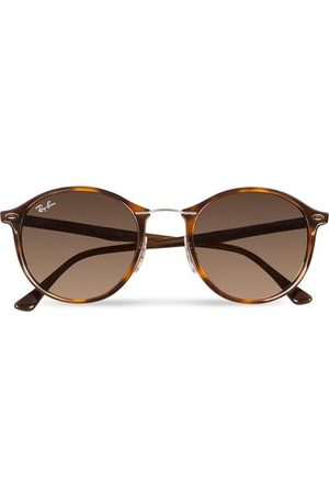 Ray-Ban Miehet Aurinkolasit - 0RB4242 Round Sunglasses Light Havana/Brown