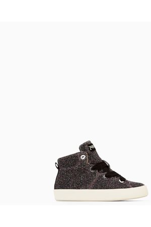 Zara HIGH TOP SNEAKERS WITH SHIMMER