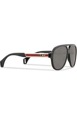 Gucci Miehet Aurinkolasit - GG0463S Sunglasses Black/White/Grey