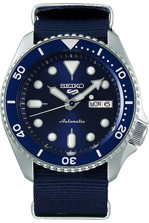 Seiko Miehet Kellot - 5 Sports Mens 43mm 100m Automatic Blue Dial/Nato