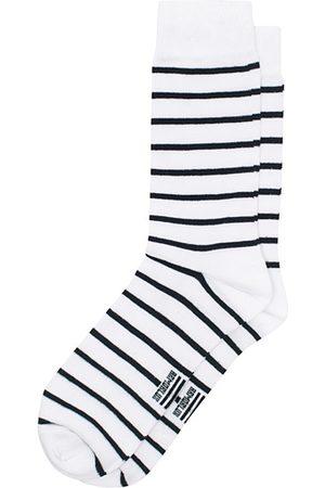 Armor.lux Loer Stripe Sock White/Rich Navy