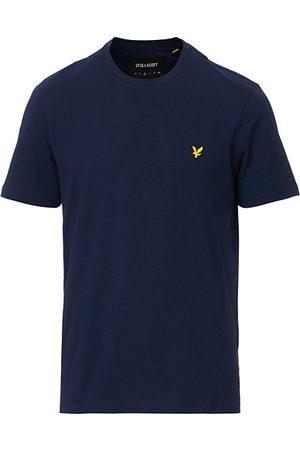 Lyle & Scott Miehet T-paidat - Plain Crew Neck Cotton T-Shirt Navy