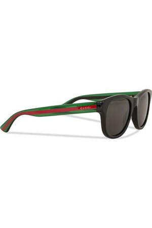 Gucci Miehet Aurinkolasit - GG0003S Sunglasses Black/Green/Grey