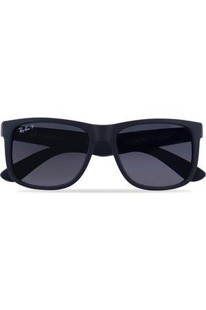 Ray-Ban 0RB4165 Justin Polarized Wayfarer Sunglasses Black/Grey