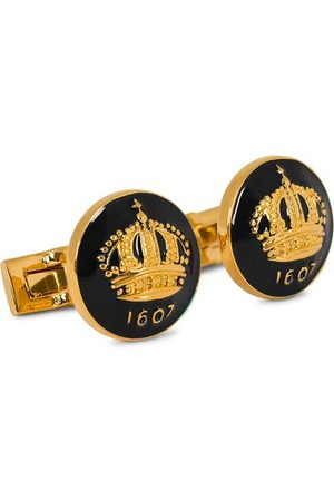 Skultuna Cuff Links The Crown Gold/Baroque Black