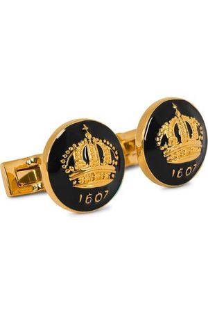 Skultuna Miehet Kalvosinnapit - Cuff Links The Crown Gold/Baroque Black