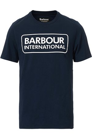 Barbour Miehet T-paidat - Large Logo Crew Neck Tee Navy