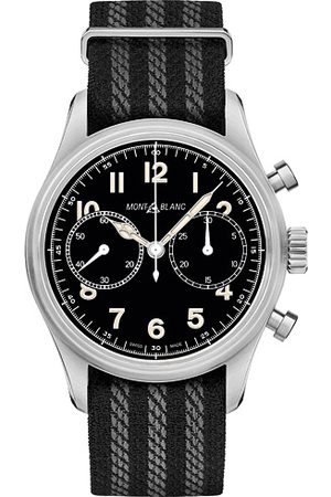 Mont Blanc 1858 Steel Automatic Chronograph 42mm Black Dial