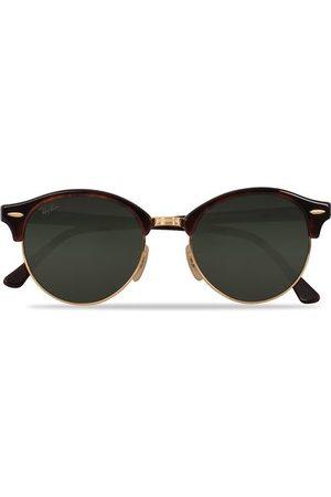 Ray-Ban Miehet Aurinkolasit - 0RB4246 Clubround Sunglasses Red Havana/Green